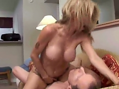 Hot with the addition of unpredictable intensify blond milf fucking with the addition of eating cum.