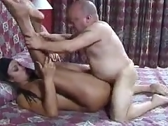 Savoury Latina boned everywhere the butt apart from a midget